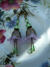 Handmade Lucite Alloy Costume Earrings