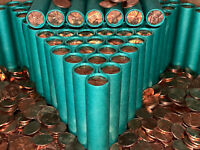 BU WHEAT PENNY ROLL OLD VINTAGE UNCIRCULATED LINCOLN CENT COLLECTION ESTATE SALE