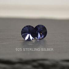 Ohrstecker mit Swarovski® Elements Sterling Silber 925 Rivoli 8mm tanzanite