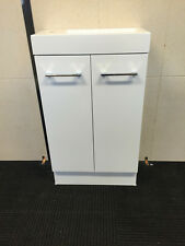 500mm x 250mm Bathroom Vanity Unit Polymarble Top White Gloss Finish