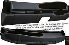 YELLOW STITCH FITS PORSCHE 944 & 968 86-95 OVAL DASH DASHBOARD LTHR COVER ONLY