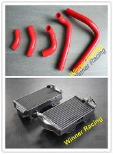 Fit Honda CR250R CR250 2002 2003 2004 Aluminum Radiator &Silicone Hoses