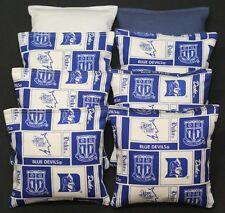 All Weather Duke Unv. 8 Cornhole Bean Bags Games Baggo Handmade Waterproof