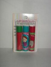 3 Lip Smacker Bonne CANDY CANE CELEBRATION WINTER BERRIES HOLIDAY Lip Gloss New