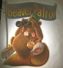Rare Vintage Iron On Heat Transfer Roach 1978 Beaver Patrol Funny Animals HTF