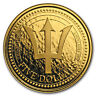 2018 Barbados 1 oz Gold Trident BU - SKU#161128