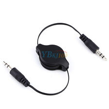 Retractable 3.5mm AUX Auxiliary Cord Male to Male Stereo Audio Cable for PC iPod