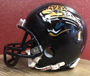 Rare NFL Throwback Jacksonville Jaguars Riddell Mini Football Helmet & Facemask