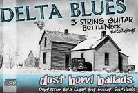 1880's - 1930's Old-Time Blues music 3 string Cigar Box Bottleneck slide guitar