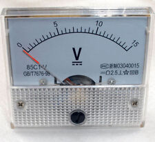 DC 15V Analog Panel Voltmeter Volt Voltage Meter Gauge 85C1 Class 2.5 DC 0-15V