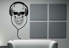 Skull Kopfhörer Totenkopf death Wandtattoo Wallpaper Wand Schmuck 55 x 108 cm