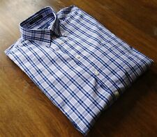 Gant size XL Pinpoint Oxford Men's Casual Shirts Multicolor Blue