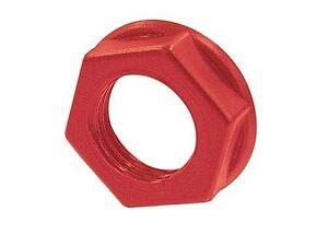 (4) RED PLASTIC JACK NUTS * MARSHALL