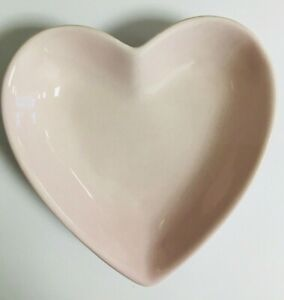 Plain Pink Love Heart Bowl Use For Tableware Or Trinket Holder Special Occasion