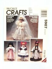 "McCalls 5907 Victorian Doll Clothes for 13-14-16"" Dolls Cut Pieces 1992"