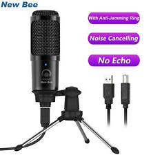 New Bee USB Microphone Condenser PC Singing Microphone Studio for YouTube Video