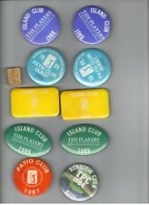 Lot of 11 TPC Sawgrass The Players Championship Golf Tournament Badges 1980s