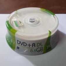 25 discs Blank Printable DVD+R DL 8x Dual Layer 8.5GB D9 dvd dl A+ quality