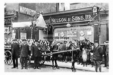 pt3328 - Horse & Cart Outside James Nelson Shop , Armley , Yorkshire - photo 6x4