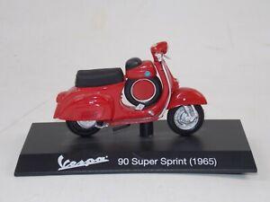 """1965 VESPA 90 SUPER SPORT SS RED PIAGGIO VINTAGE SCOOTER L=4"""" 100mm SCALE 1:18"""