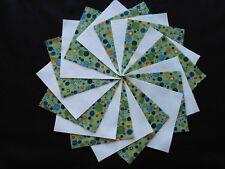 30 4x4 Green Quilt Fabric Squares~4066c