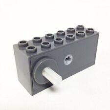 Lego WINDUP MOTOR 2x6x2 1/3 -Part 42073c02- Dark Bluish Gray