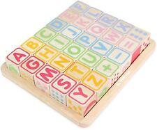 Le Toy Van petilou ABC en bois blocs pré-scolaire en bois jouet BN