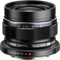 New OLYMPUS M.Zuiko Digital ED 12mm f/2.0 Lens - BLACK