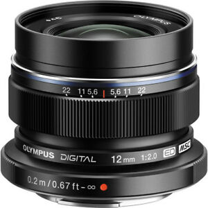 New OLYMPUS M.Zuiko Digital ED 12mm f/2.0 Lens - BLACK