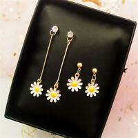 1 Pair Fashion Daisy Flower Earrings Drop Dangle Ear Studs Women's Jewelry Gift