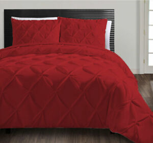 Egyptian Cotton 800TC Pinch pleat Duvet Cover Set with Fitted sheeAll Size Color