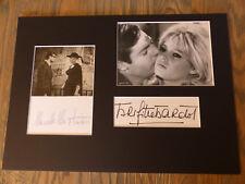 BRIGITTE BARDOT & MARCELLO MASTROIANNI signed Autogramm in 25x35 cm Passepartout