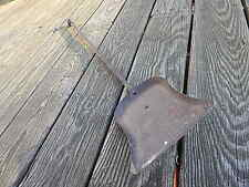 ANTIQUE 29 7/8 INCH  HAND FORGED WROUGHT IRON FIREPLACE SHOVEL INTERNATIONAL