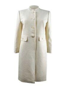 Anne Klein Women's Mandarin-Collar Topper Jacket