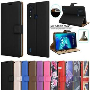 For Motorola Moto G Pro Case Premium Leather Wallet Phone Cover + Tempered Glass