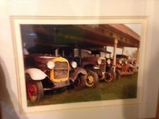 Original Art Bill Dziejman Photography 4 Old Fords 11x14 signed