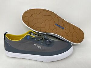 NEW! Columbia Men's Dorado CVO PFG Slip On Shoes Gray/Yellow #1815371003 140O tz
