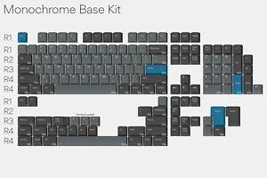 NEW Drop + Oblotzky GMK Oblivion V2 Monochrome Base Keycap Set + Bonus Modifiers