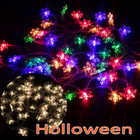 Snowflake Curtain Light Christmas Snowflake LED String Lights Home Hanging Decor
