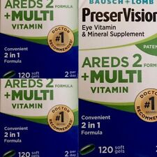 300 Pack - PreserVision AREDS 2 Vitamin - Mineral Supplement, Soft Gels 100 Each