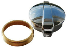 """Flip Top Monza Style Chrome Gas Cap With Collar For Neck Size 2 1/4""""(57mm)"""