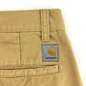 Men's Carhartt Prime Pants Trousers Casual Beige Size - 32 / 34
