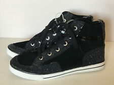 NEW! COACH PITA BLACK METALLIC HI-TOP SNEAKERS SHOES 7.5 38 $148 SALE