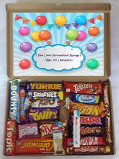 Personalised Birthday Present 20 Luxury Chocolate Bars Gift Selection Box Hamper