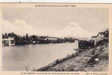 VILLEMUR 1930 inondations 15 les piles du pont éd bouzin