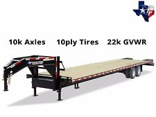 Brand New Texas Pride 8½' x 25' (20'+5') Equipment Trailer, 22k gvwr