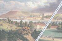 Linz an der Donau - Ortsansicht - Großformat - Kunstdruck - um 1845 ...... N18-6
