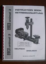 Unimat Mk 3 Lathe Mill Combination User Manual Printed and Bound Copy