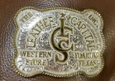 CUSTOMIZABLE ~ SILVER RODEO BUCKLE CUSTOM MADE TO ORDER. Judge Leo Smith
