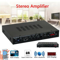 2000W 5CH 220V HiFi Stereo Amplifier Bluetooth Audio Surround System For Karaoke